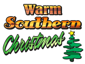 warm southern Christmas logo stacked